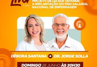 LIVE DA ENFERMEIRA DÉBORA SANTANA COM O DEP FEDERAL JORGE SOLLA FORTALECEU OS PROFISSIONAIS DE SAÚDE EM SALVADOR